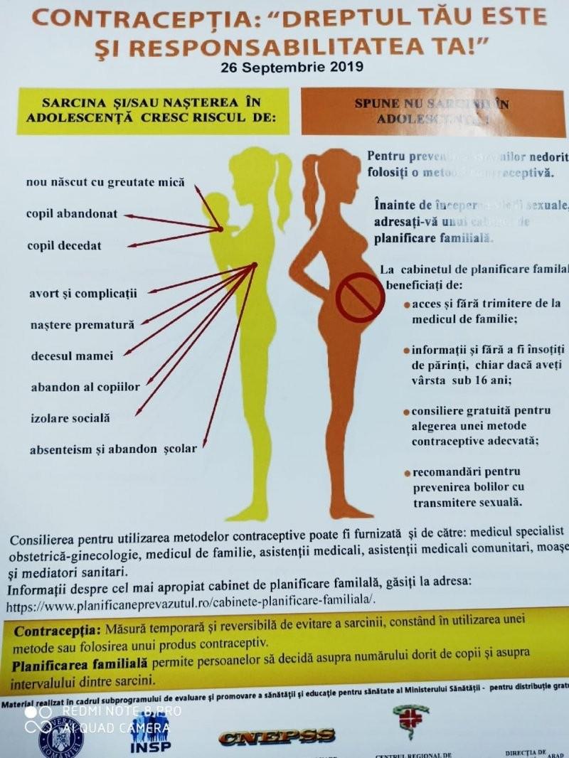 """Acțiunea """"Promovarea sănătății reproducerii și planificării familiale"""""""